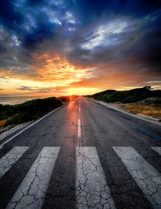 Sunset Road Jigsaw Puzzle