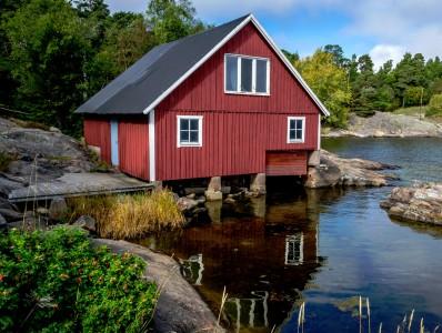 Swedish Boathouse Jigsaw Puzzle