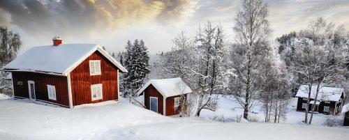 Swedish Cottages Jigsaw Puzzle