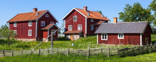 Swedish Farmhouses Jigsaw Puzzle