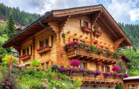 Swiss Log House Jigsaw Puzzle