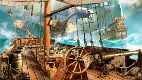 Tall Ship Battle Jigsaw Puzzle