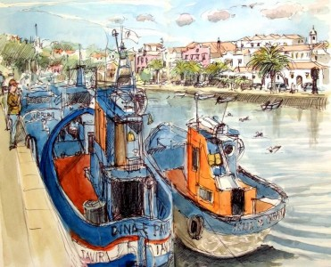 Tavira Fishing Boats Jigsaw Puzzle