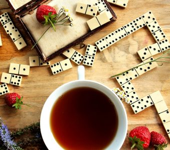 Tea and Dominoes Jigsaw Puzzle