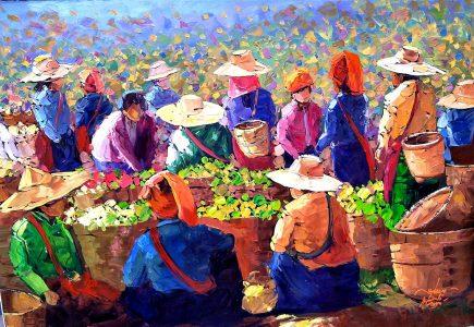 Tea Market Jigsaw Puzzle