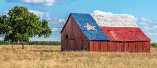 Texas Barn Jigsaw Puzzle