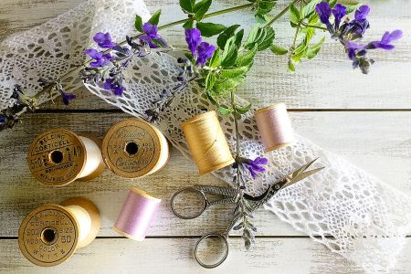 Thread Spools and Lace Jigsaw Puzzle
