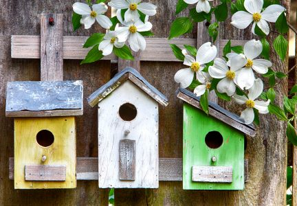 Three Birdhouses Jigsaw Puzzle
