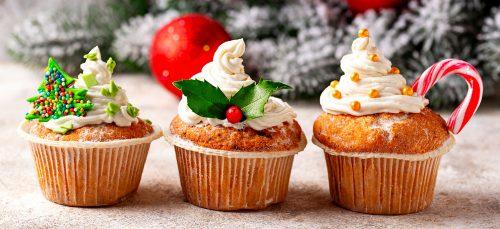 Three Christmas Cupcakes Jigsaw Puzzle