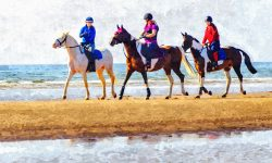 Three Horse Riders