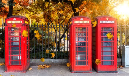 Three Phone Booths Jigsaw Puzzle