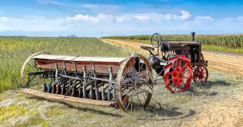 Tractor and Planter Jigsaw Puzzle