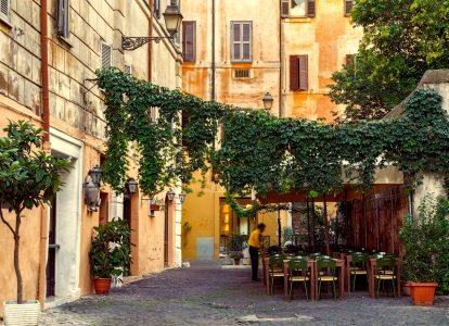 Trastevere Cafe Jigsaw Puzzle