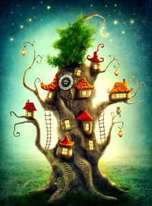 Tree Cottages Jigsaw Puzzle