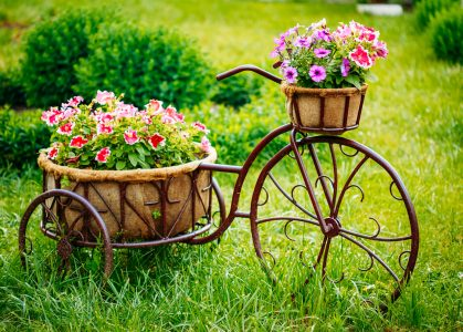 Tricycle with Flowers Jigsaw Puzzle