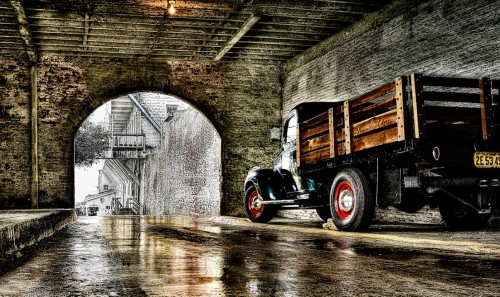 Truck at Alcatraz Jigsaw Puzzle