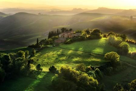 Tuscany Sunset Jigsaw Puzzle