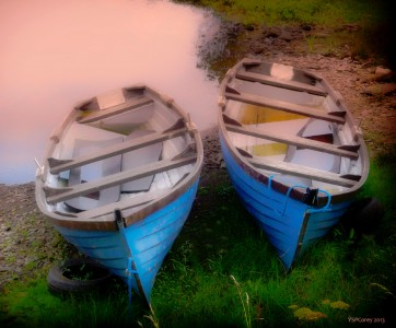 Two Blue Boats Jigsaw Puzzle