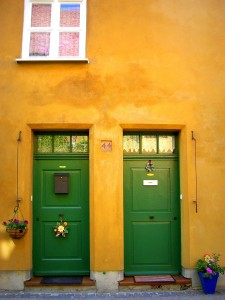 Two Green Doors Jigsaw Puzzle