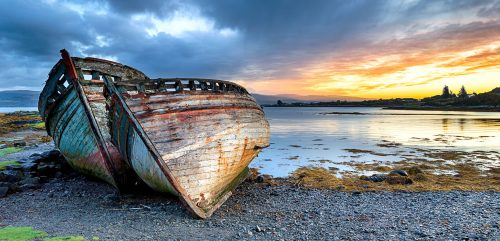 Two Old Boats Jigsaw Puzzle