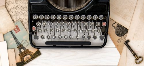 Typewriter and Memories Jigsaw Puzzle