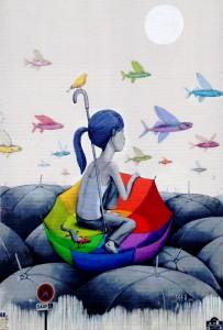 Umbrella Raft Jigsaw Puzzle