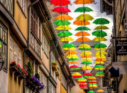 Umbrella Street Jigsaw Puzzle