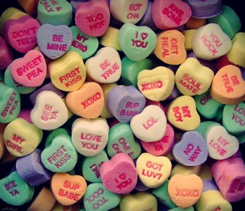 """Sweethearts Valentine""""s Day candy just for you on Valentine's Day!"""
