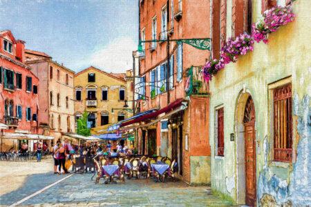 Venice Cafe Scene Jigsaw Puzzle