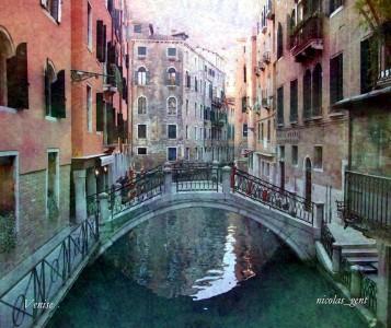 Venice Canal Bridge Jigsaw Puzzle