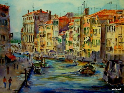 Venice Watercolor Jigsaw Puzzle