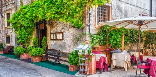 Verona Corner Cafe Jigsaw Puzzle
