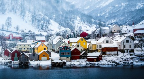 Village in Winter Jigsaw Puzzle