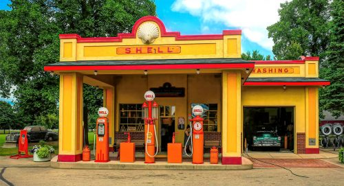 Vintage Gas Station Jigsaw Puzzle