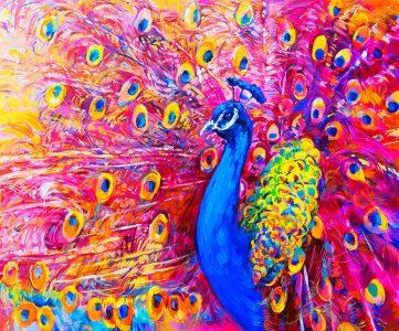Vivid Peacock Jigsaw Puzzle
