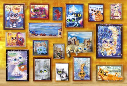 Wall of Cats Jigsaw Puzzle