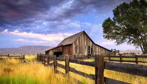 Washoe Valley Barn Jigsaw Puzzle