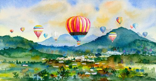 Watercolor Balloons Jigsaw Puzzle