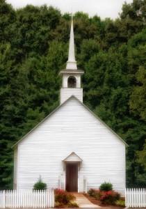 White Church Jigsaw Puzzle