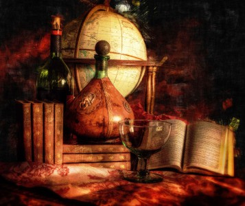Wine and Dickens Jigsaw Puzzle