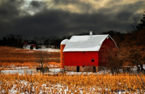 Winter Barn Jigsaw Puzzle