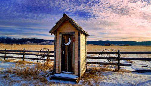 Winter Outhouse Jigsaw Puzzle