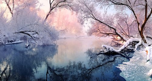Winter River Jigsaw Puzzle
