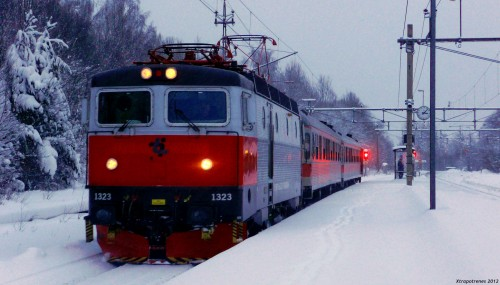 Winter Train Jigsaw Puzzle