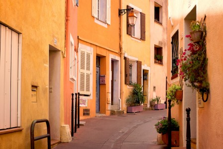 Yellow and Orange Street Jigsaw Puzzle