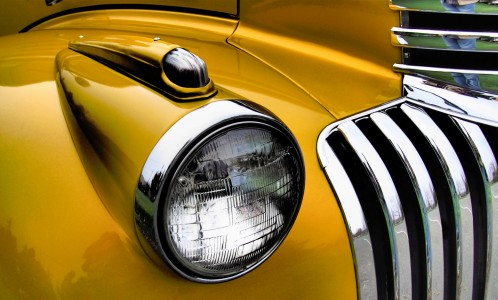Yellow Chevy Jigsaw Puzzle