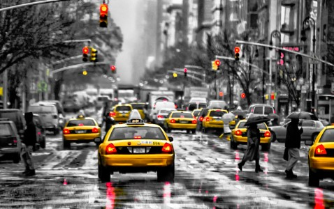 Yellow Taxis Jigsaw Puzzle