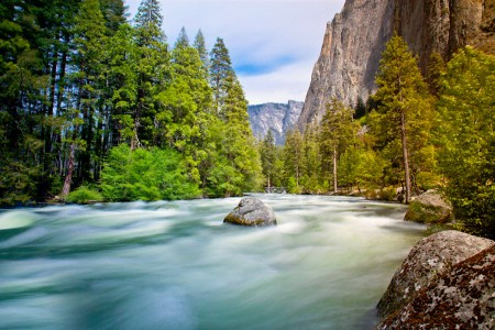 Yosemite Water Flow Jigsaw Puzzle
